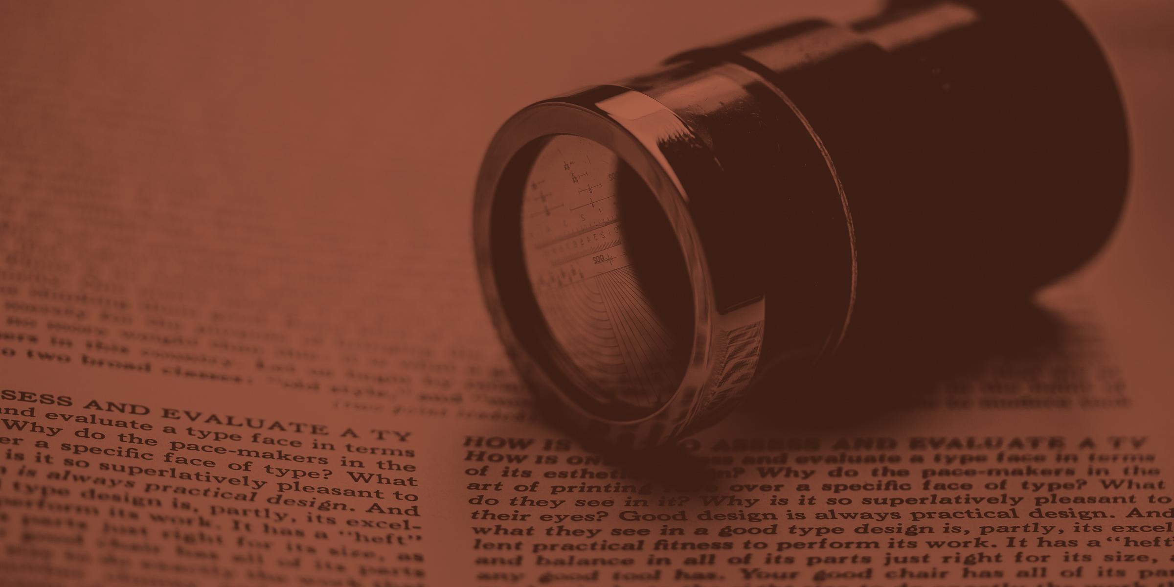 Linotype type specimen background, photo by Josh Korwin